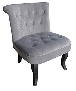 fauteuil crapaud gris foncé