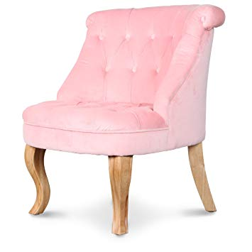 fauteuil crapaud rose clair