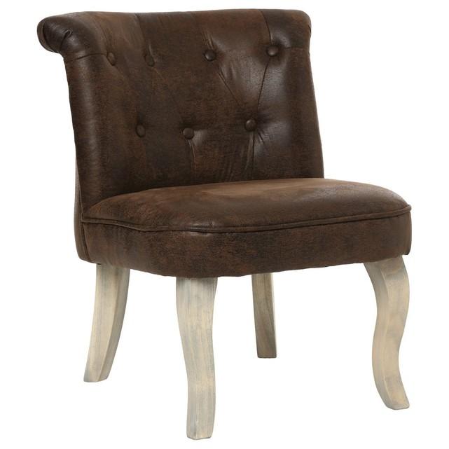 fauteuil crapaud cuir marron