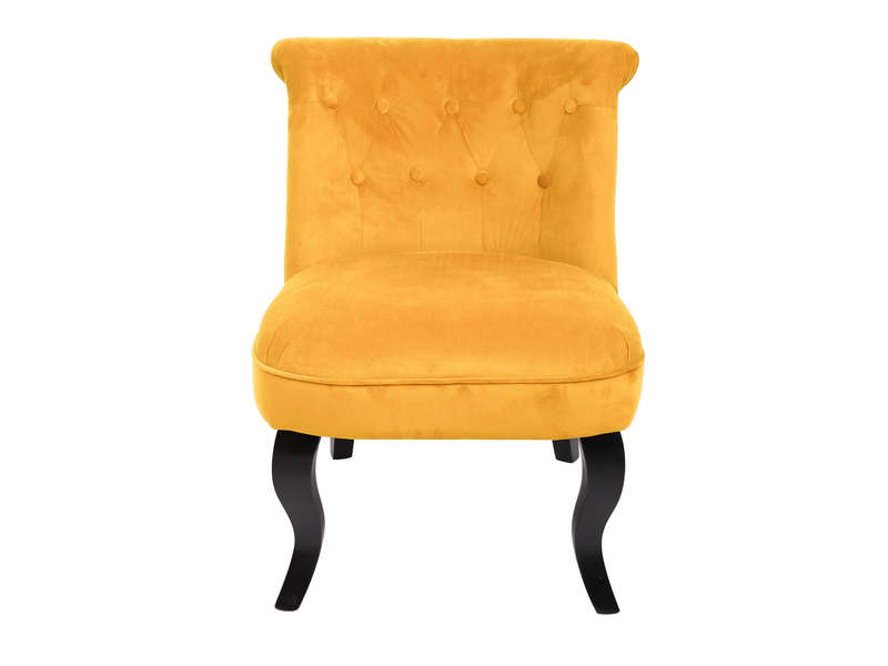 fauteuil crapaud jaune oeuf