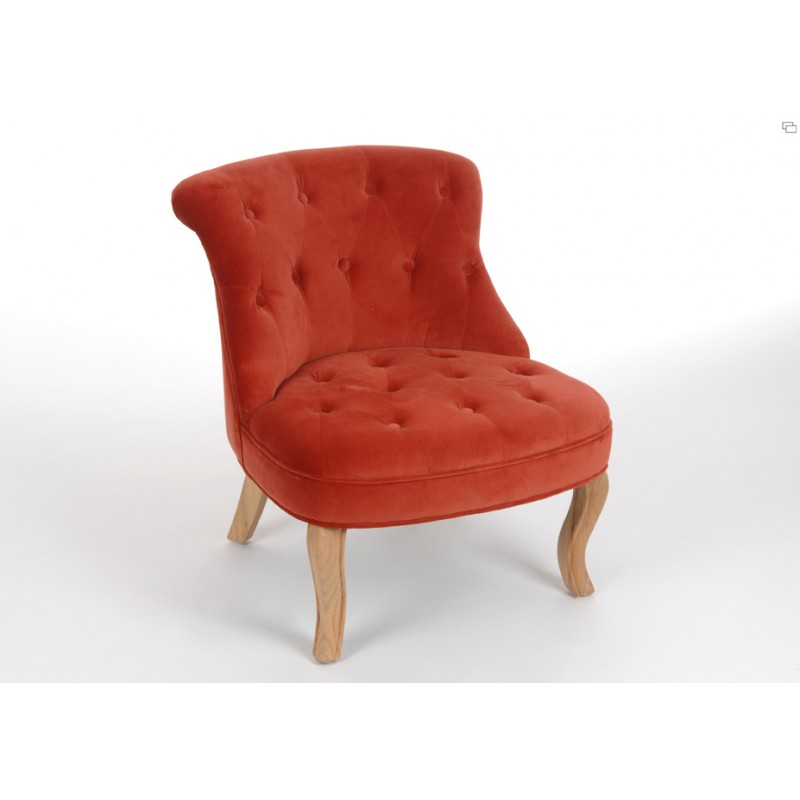 fauteuil crapaud orange