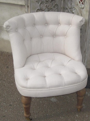 fauteuil crapaud moderne blanc