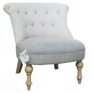 fauteuil crapaud capitonne blanc