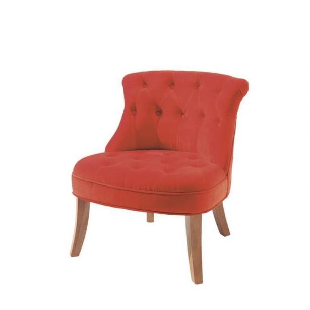petit fauteuil crapaud orange