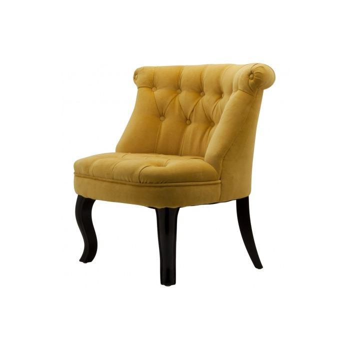 fauteuil crapaud jaune foncé
