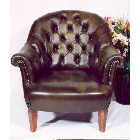 fauteuil crapaud cuir noir