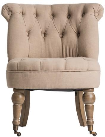 fauteuil crapaud tissu beige