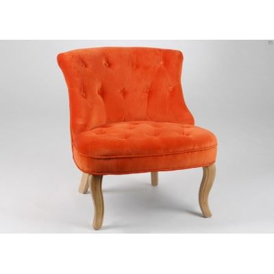 fauteuil crapaud orange pas cher