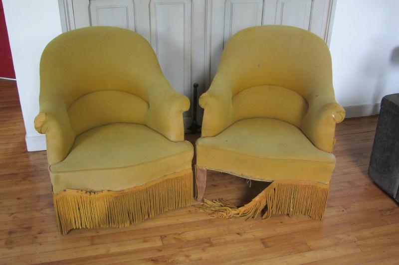 recouvrir un fauteuil crapaud